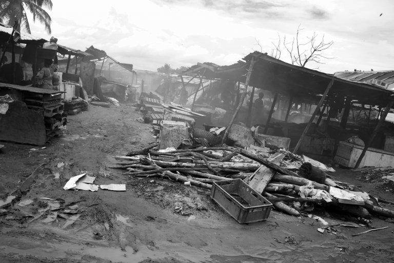 Elendsviertel in Westafrika