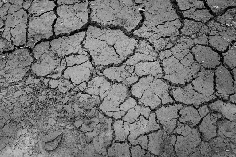 Vertrockneter, rissiger Boden